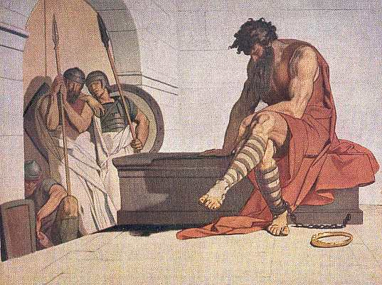Marbod im Gefängnis zu Ravenna