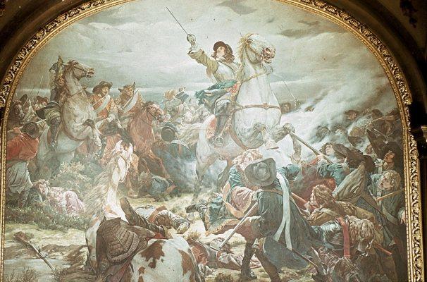 Schlacht bei Fehrbellin. Sieg des Kurfürsten über die Schweden 1675 (entstanden um 1882)